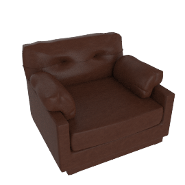 Verina Leather Armchair, Chocolate