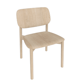 Soft Edge 12 Side Chair, Oak