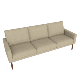 Raleigh Sofa, Walnut Frame and Ducale Wool, Tumbleweed