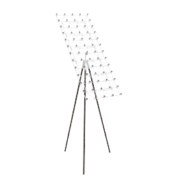 Space Frame Floor Lamp, Nickel