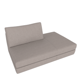 Reid Side Chaise Right, Kalahari Leather Grey