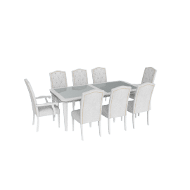 Manzala Studded 9-Piece Dining Table Set