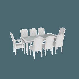 Manzala Studded 9-Piece Dining Table Set