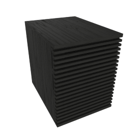 Line File Pedestal, Black
