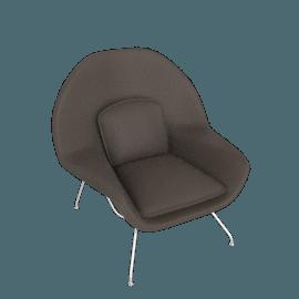 Womb Chair, Kalahari Leather- Mink