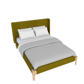 Roscoe Double Bed, Olive Green