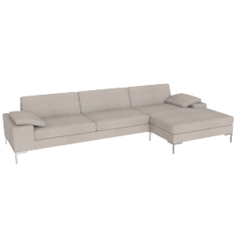 Arena Sectional with Chaise Left, Pebble Weave Buff