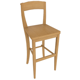 Piran Bar Chair, Natural