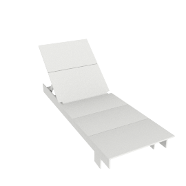 Lollygagger Chaise, White
