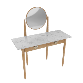 Genevieve Marble Top Dressing Table