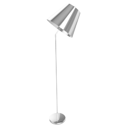 Tilt Floor Lamp, Chrome