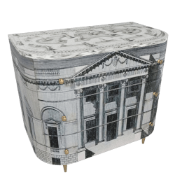 palladiana, curved chest of drawers by fornasetti
