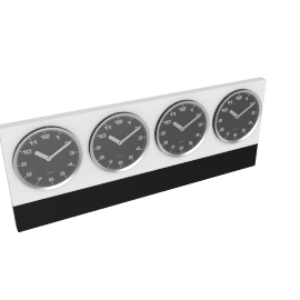 Meridian World Wall Clock, Black