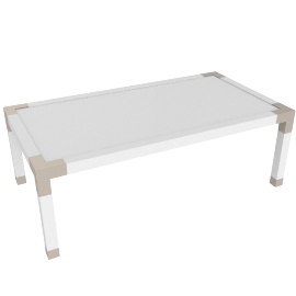 Hazel Coffee Table, HG White/Gold