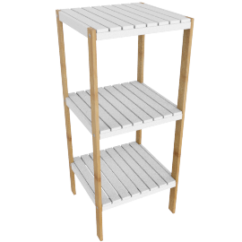 Brookline Bathroom Storage Stand with 3 Tiers