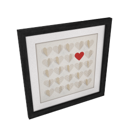 Hearts Words Framed 3D Laser Cut, 40 x 40cm