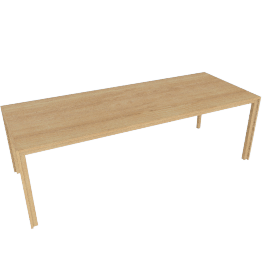 Doubleframe Table 92 x 36, Oak