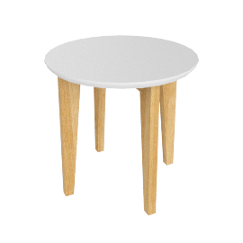 Abin Side Table, White Top/Oak