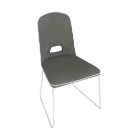 Arlo Dining Chair, Brown/White