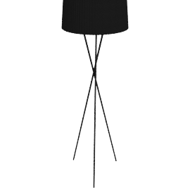 Cannes Tripod Floor Lamp, Shiny Black