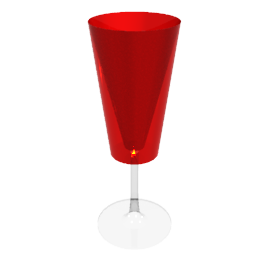 Acrylic Wine Stem, Red