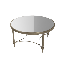 Veneto Coffee Table, Antique Brass
