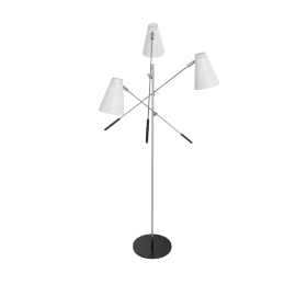 Tri-Arm Floor Lamp - White