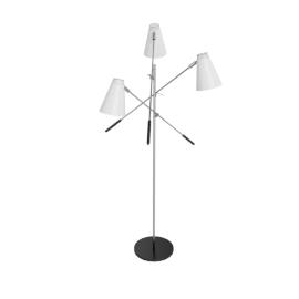 Tri-Arm Floor Lamp - White