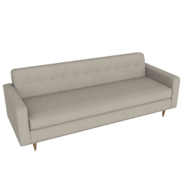 "Bantam 86"" Sofa in Double Fabric - Olive.Walnut"