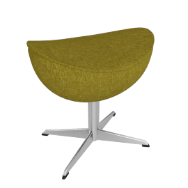 Egg™ Footstool - Fame Fabric - Chartreuse