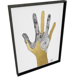 Sign Language I by KelliEllis - 24''x32'', Black