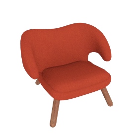 Pelican Chair, Canvas Red