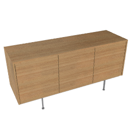 Sussex Credenza with Three Drawers - Walnut