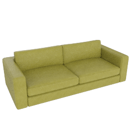 "Reid 86"" Sofa in leather, leaf"