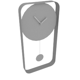 Bard wall clock, matte grey