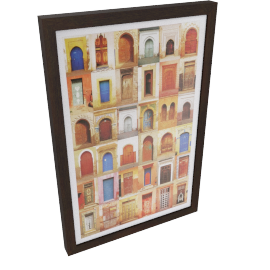 Doors of Freedom Framed Canvas Print - 60x5.9x90 cms