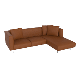 Bilsby Sectional with Right Chaise, Kalahari Leather Canyon