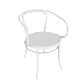 Era Round Armchair - White