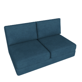 Eterno 2- Seater Armless Sofa, Blue