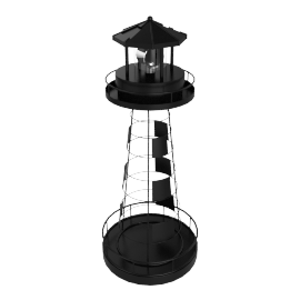 Solar Battery Powered Light House - 18.1x18.1x43.8 cms