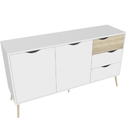 DELTA SIDEBOARD 2 DOORS + 3 DRAWERS by tvilum