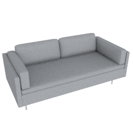Bolster Two-Seater Sofa in Fabric