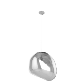 Melt Pendant, Chrome