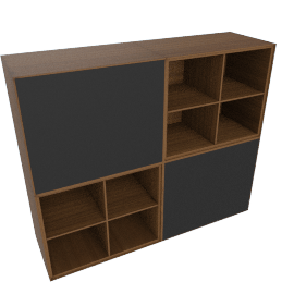 Forma Small Hutch, Walnut/Graphite