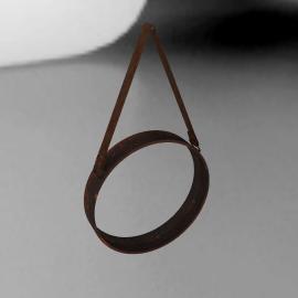 John Lewis Round Hanging Mirror, Matt Copper, Dia.23cm