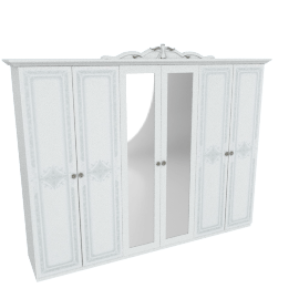 Luisa 6-Door Wardrobe