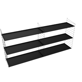 100108054 String Wall 32'' - 2 Bay  BLACK