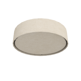 Samantha Linen Flush Ceiling Light