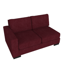 Signature 2 Seater With Left Arm, Bordeaux