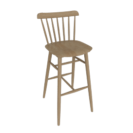 Salt Barstool, Natural Beech